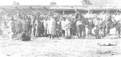 Navajos in 1863,near Fort Sumner, New Mexico at internment camp Bosque Redondo.