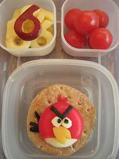 This is so cute - an Angry Bird Lunch