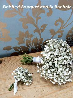 DIY Tutorial: Gypsophila Bouquet and Buttonhole