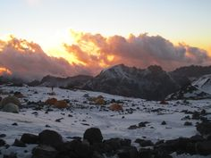 View from Nido de Condores, Aconcagua.  January © 2012 Andes Mountain Guides.
