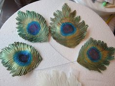 How to Make a Gumpaste Peacock Feather Tutorial Cake Central