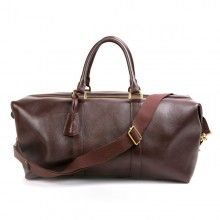 Mulberry Herren Hand Clipper Natural Leather Bag Brown