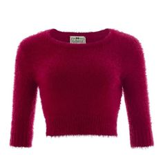 Collectif Vintage Isobel Fluffy Jumper ($11) ❤ liked on Polyvore featuring tops, sweaters, vintage sweaters, purple jumper, rockabilly sweater, jumper top and purple sweater