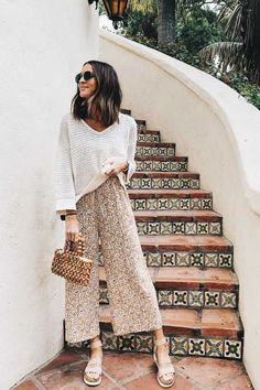 Charming Summer Outfits to Copy Right Now charmante Sommeroutfits zum Nachmachen Style Outfits, Casual Summer Outfits, Spring Outfits, Trendy Outfits, Cute Outfits, Fashion Outfits, Church Outfit Summer, Travel Outfits, Fashion Pics