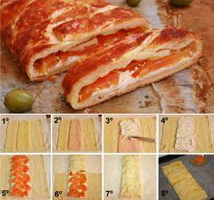 Receta hojaldre mixto con tomate - Puff Pastry Recipe!! ;)