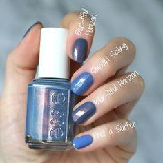 Wow love these blue nail art. Gorgeous Nails, Pretty Nails, Pedicure, Essie Nail Polish Colors, Gel Polish, Nail Decorations, Blue Nails, Diy Nails, Beauty Nails