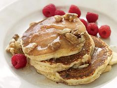 Banana Pancakes with Walnut Honey http://www.prevention.com/weight-loss/flat-belly-diet/flat-belly-diet-recipes-that-help-you-lose-belly-fat/banana-pancakes-walnut-honey