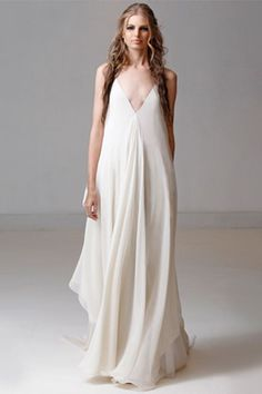 14 Wedding Dresses That Were Made For The Beach #refinery29  http://www.refinery29.com/best-beach-wedding-dresses#slide-1  This breezy silk chiffon dress echoes the tones of a sandy beach with its white, ivory, and nude layers. Total bonus points for its freeform silhouette — which is the total antithesis of stuffy.