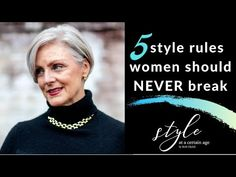 5 style rules women should NEVER break | style over 50 - YouTube Vogue, Diy Fashion, Fashion Tips, Over 50, Clothing Hacks, Perfectly Imperfect, Timeless Classic, Older Women, What To Wear