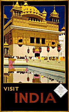 Visit India, travel poster, ca. 1935