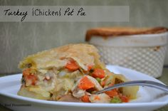 Turkey {Chicken} Pot Pie is my favorite way to use my Thanksgiving leftovers!