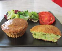 Mini quiches sans pâte courgette/fromage/jambon