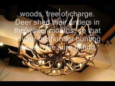 DIY Antler Chandelier - YouTube