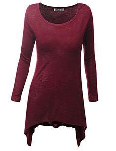 Womens Modern Casual Slim Fit 3Colors Long T-Shirts WINE (US-XL) Doublju http://www.amazon.com/dp/B00HHKMIOC/ref=cm_sw_r_pi_dp_.kZOub1BCNA49