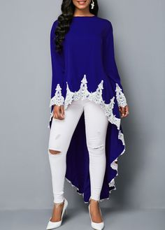 Stylish Tops For Girls, Trendy Tops, Trendy Fashion Tops, Trendy Tops For Women Stylish Tops For Girls, Trendy Tops For Women, Blouses For Women, Royal Blue Blouse, Royal Blue Outfits, Trendy Fashion, Fashion Outfits, Red Blouses, Maxi Dress With Sleeves