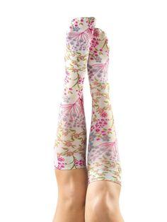 Support Like Crazy Compression Knee-Highs - Fun Support Socks | Gold Violin