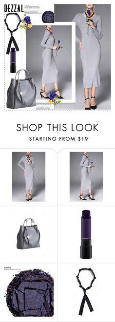 """gray dress"" by duma-duma ❤ liked on Polyvore featuring MAC Cosmetics, Urban Decay and POL"