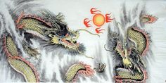 Pittura cinese: Dragon - pittura cinese CNAG233851 - Artisoo.com