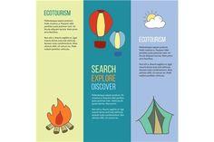 Ecotourism flyer, poster. Vector. by Sunshine Art Shop on @creativemarket
