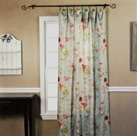 Sewing Curtain Birdsong Blooms Rod Pocket Curtain Panel - A Vintage-Inspired Floral Highlights Our Light and Breezy Crushed Taffeta Curtains Custom Drapes, Decor, Rod Pocket Curtains, Curtains Bedroom, Curtains, Floral Curtains, Panel Curtains, No Sew Curtains, Rod Pocket Curtain Panels