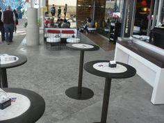 Desayuná con estilo. Diseño Hecho a Mano en Argentina : Mesa Café (hierro y cemento)  Colores Chocolate/Piedra - Chocolate/Lacre - Lacre/Piedra | concretoarttigre