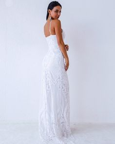Miss ord Women Sexy V Neck Off Shoulder Backless Sleeveless Sequin Lace Dresses Female Elegant Party Maxi Dress S *** Have a look at this great product. (This is an affiliate link). Mermaid Prom Dresses Lace, Prom Dresses Long With Sleeves, Long White Maxi Dress, Sequin Dress, Open Back Evening Gown, Evening Gowns, Elegant Dresses, Sexy Dresses, Lace Dresses