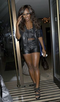 "Alexandra Burke Photos - ""The X-Factor"" 2008 winner, Alexandra Burke emerges from her Mayfair Hotel in skimpy leather hotpants and studded leather jacket. - Alexandra Burke Leaves Her Mayfair Hotel Studded Leather Jacket, Leather Skirt, Alexandra Burke, Pop Rock, Music Artists, Celebs, Singer, Female, Sexy"