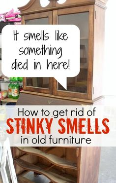 Tips for Getting Rid of Odor in Furniture Great tips for making old furniture smell fresh.