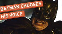 "A Collegehumor Classic: ""Batman Chooses His Voice"" Christoper Nolan, Clyde Frog, Pete Holmes, Batman Meme, Freaking Hilarious, Funny Shit, New Inventions, Laugh At Yourself, College Humor"