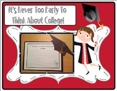 It's Never Too Early For College - direct link to the TPT Pack