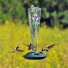 Amazon.com : Birdscapes 8111-2 Violet Meadows 8-Ounce Glass Hummingbird Feeder : Patio, Lawn & Garden