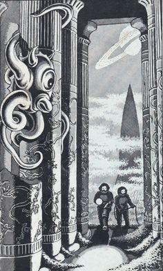 Back Cover Of Nebula No.17 July 1956 Artwork. Alan Hunter