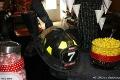 Firefighter themed candy bar