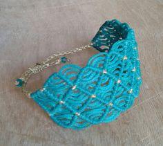 Lace macrame bracelet by lulupica on Etsy