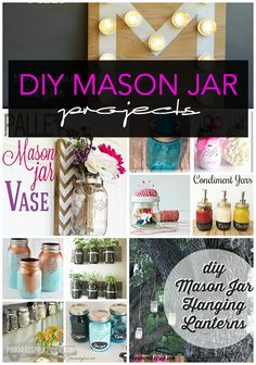 Love Mason Jars as much as I do? Then you need to check out these DIY Mason Jar Projects! Simply fabulous!!