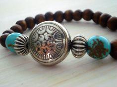 Yoga Bracelet  Boho Chic Bracelet  Mala Bracelet  by Gnosticos, $22.00