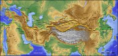 The Silk Road entered the Tarim basin at  Kashgar then divided to the north and south of the brutal Taklamakan desert.