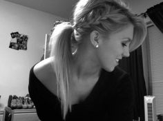 ponytail. I didn't think of just french braiding one side!