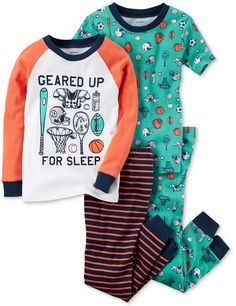 Carter's 4-Pc. Geared Up For Sleep Cotton Pajama Set, Toddler Boys (2T-5T)