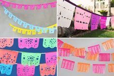 DIY paper banners for Cinco de Mayo