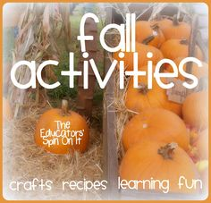 40 Activities for Fall including crafts, recipes, books, learning games from The Educators' Spin On It