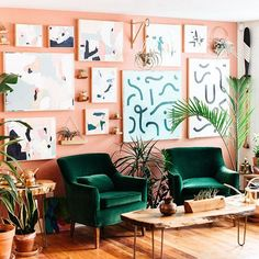 Distinctive Gifts Mean Long Lasting Recollections Why The Twin Cities Is The Biggest New Design Hub - Lonny Peach Living Rooms, Peach Rooms, Peach Bedroom, Peach Walls, Bedroom Green, Green Rooms, Bedroom Wall, Bedroom Decor, New Room