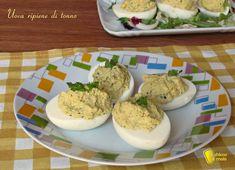 Uova ripiene di tonno ricetta piatto freddo il chicco di mais