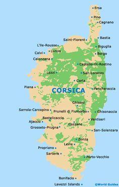 1914 Corsica Antique Map Corse Corsega France Mediterranean