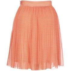 French Connection Primrose Striped Mini Skirt, Orange ($40) ❤ liked on Polyvore
