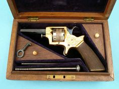 "Fine Cased and Engraved ""Baby Tranter"" Single Action Spur Trigger Revolver"