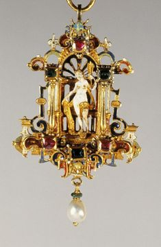 Pendant with Venus - German or Netherlandish (Artist)   Gold, Enamel, Rubies, Emeralds And Pearls   c.1580-1620 (Baroque)