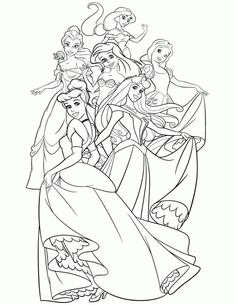online disney princess coloring page free to print - Disney Princess Coloring Pages To Print For Free