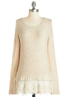 Game of Scones Sweater. Todays your annual scone cook-off with your crew, and youre confident in your blueberry ginger recipe, which you deliver to the party in this beige sweater! #tan #modcloth