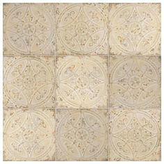Bring a classic look to your flooring with the addition of this durable Merola Tile Saja Blanco Ceramic Floor and Wall Tile. Tin Tiles, Wall Tiles, French Country Kitchens, Mexican Style Kitchens, White Kitchens, Country French, Distressed Painting, Fireplace Surrounds, Wall Patterns